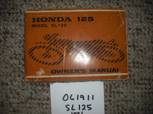 Honda SL125K0  1971  Owners Manual sku1935