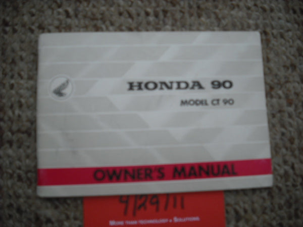 Honda CT90 1967 Owners Manual 1919