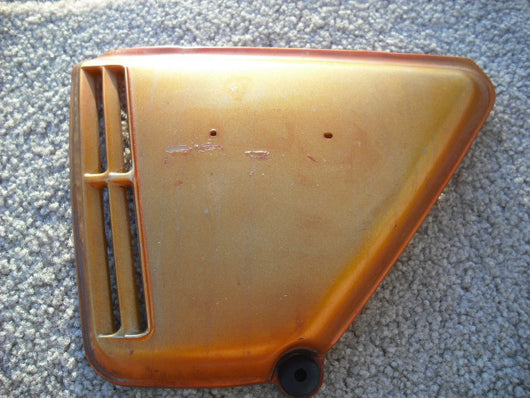 Honda CB360 Left Orange Sidecover