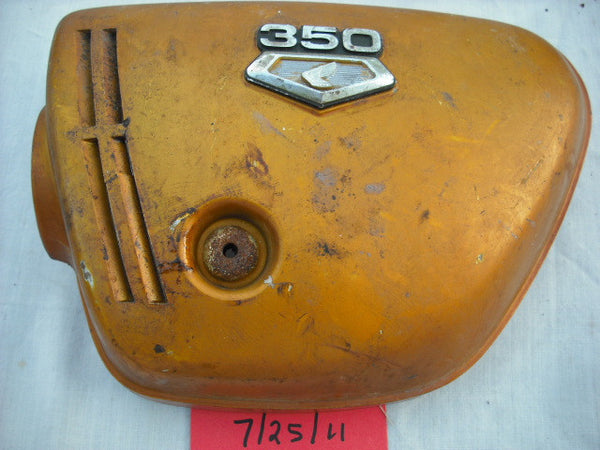 Honda CB350K3 left Candy Gold sidecover left with badge