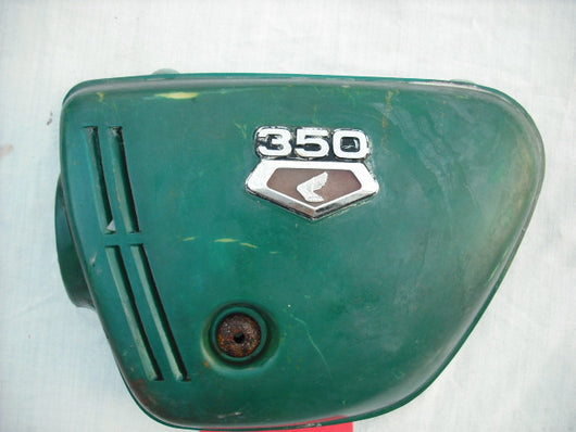 Sold Honda CB350 K3 left  Derby Green sidecover with badge
