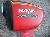 Honda CB400A 78 Hawk Hondamatic Orange Sidecover Pair 83700-413-0000  83600-419-0000