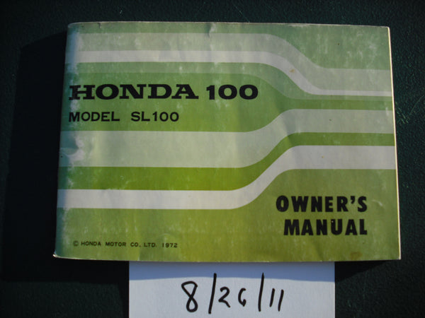 Honda SL100 K3 1972 Manual