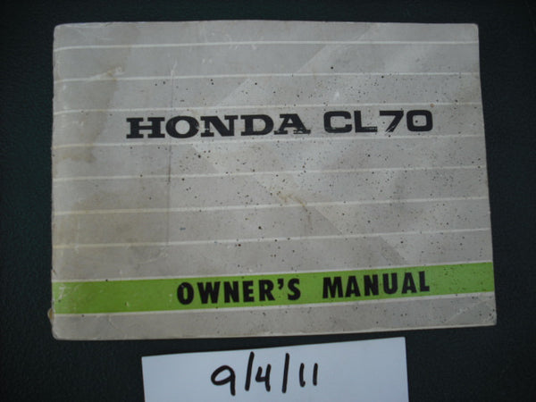 Honda CL70 K1 Owners Manual  sku 1984