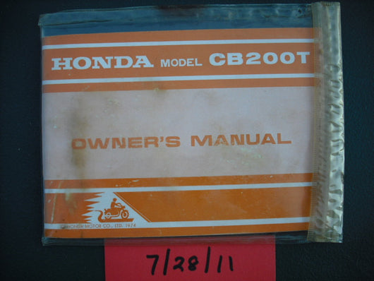 Honda CB200T Manual