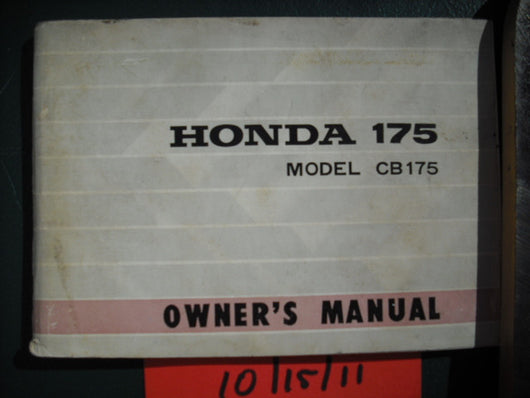 Honda CB175K4 1970 Manual