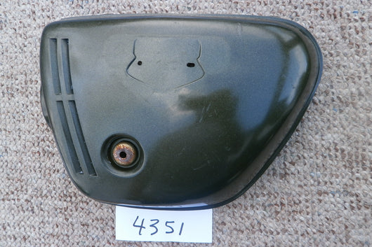 Honda CB350K4 Sidecover left Candy Baccus Olive 4351