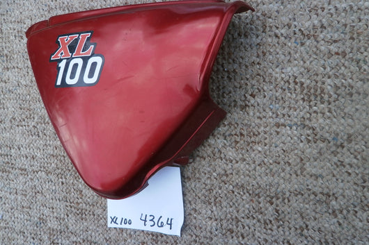Sold by Invoice 11/17/16 Honda XL100 Candy Ruby Red right sidecover 4364