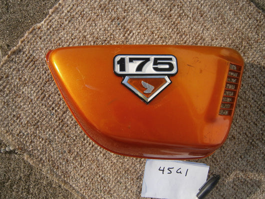 Sold on ebay 7/13/16Honda CB175K7 Orange right sidecover 4561