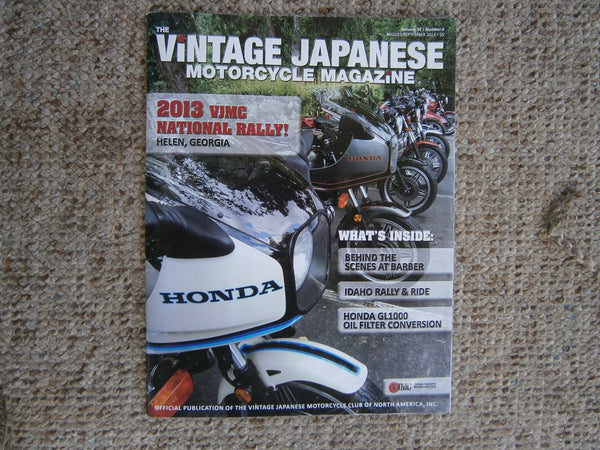 Honda CBX 1982 Touring Magazine featured on the cover of the VJMC Magazine 4611