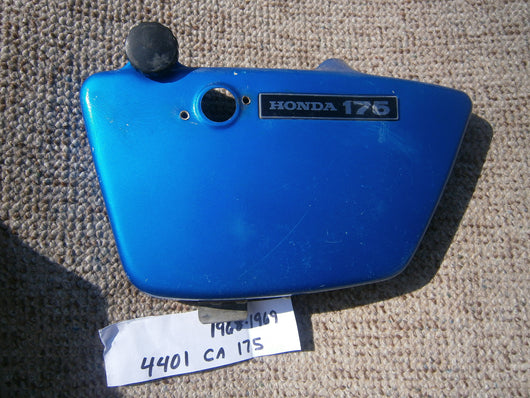 Honda CA175 CD175 1968-1969 left blue sidecover 4401