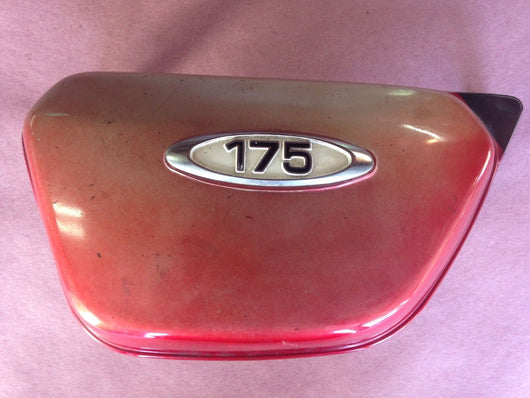 Honda CB175 1970-1971 left red sidcover with white badge 4403