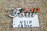 Honda CB350 Four Sidecover Badge 4310