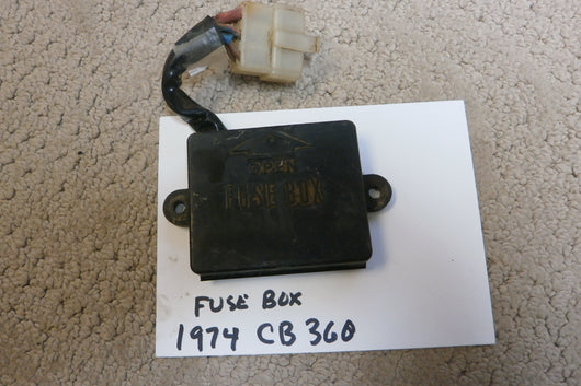 Honda CB360 CL360 Fuse Box with connector and fuses 4294