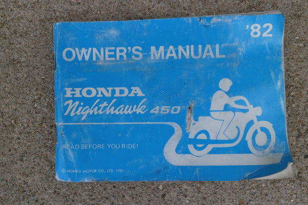 owners manuals and literature classic esemotorcycles honda cb450sc 82 original owner s manual