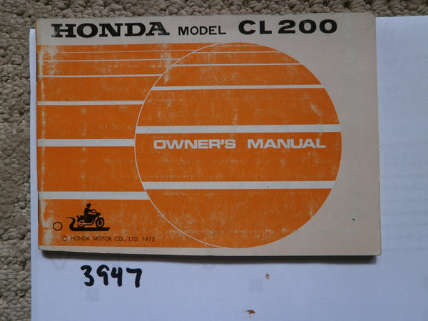 Honda CL200 1974 Owners Manual 3947