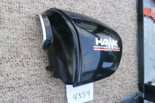 Honda CB400TI 78 Hawk Sidecover left black  83700-413-000 sku 4354