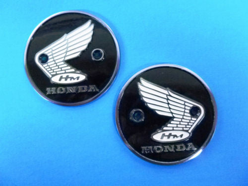 Honda Super 90, S90, CL90 New Gas Metal Tank Badge Pair 87020-070-010 my sku 4510