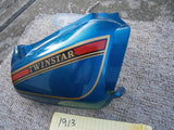 Honda CM185T 1979 Right Blue Sidecover 83540-419-0000 sku 1913