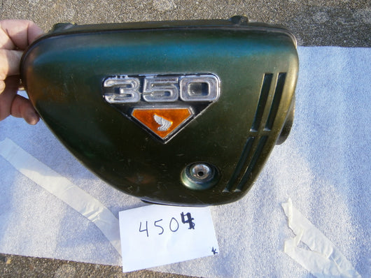 Honda CB350rightt  Sidecover Tyrolean Green with badge 4504