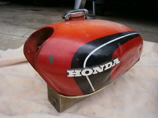 Honda CB350 Red Gas Tank 4518