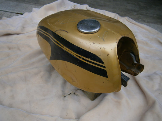 Honda CL175 Gas Tank 1971 Poppy Yellow Metallic4519