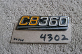 Honda CB360 Sidecover Badge  no tabs  4302