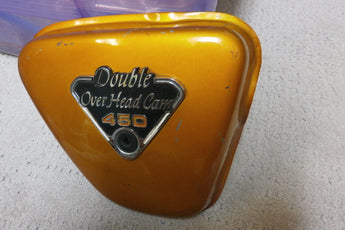 Honda CB CL450 Candy Gold Right sidecover 4381