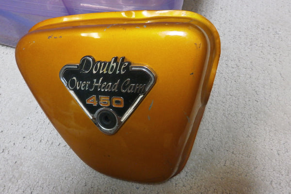 Honda CB450 CL450 K3 K4 sidecover right candy gold sidecover 4381