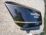 Honda GL1000 left black sidecover 83600-431-6700 sku 4588