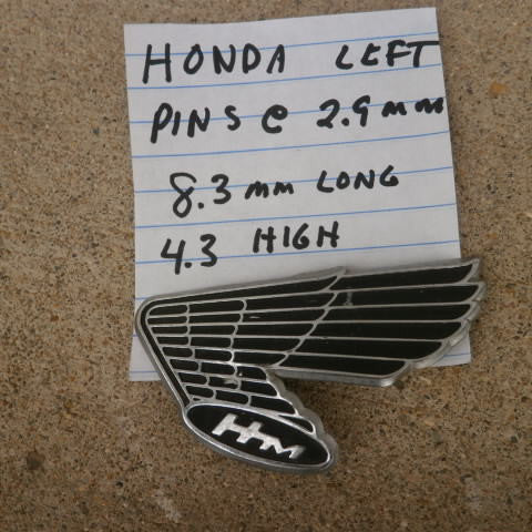 Honda left gas tank wing 4184