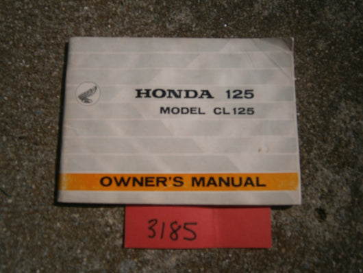 Honda CL125 1967 Owners Manual 3185