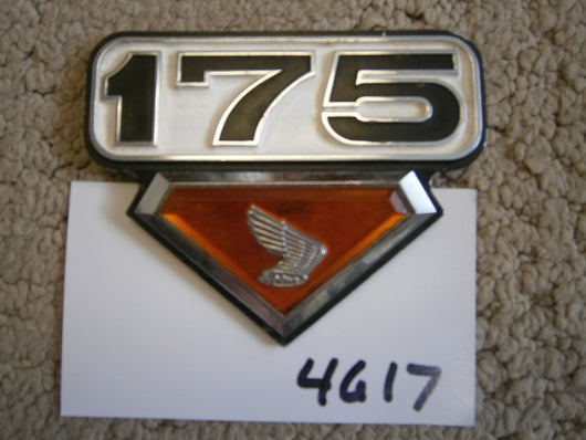Honda CB175 Sidecover Badge sku 4617