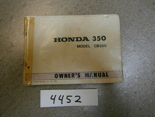 Honda CB350 K4 Owners Manual 4452