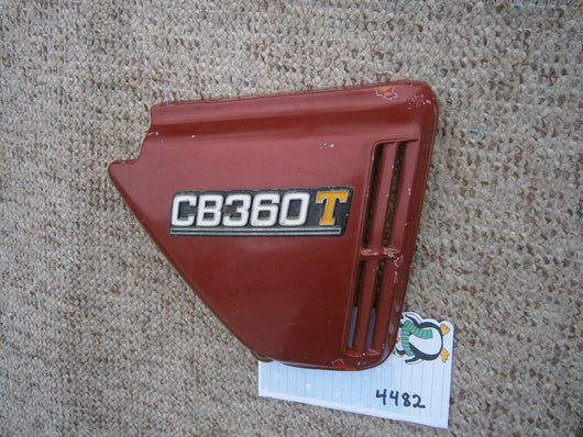 Honda CB360T right red sidecover 4482