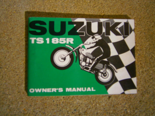 Suzuki TS185,Owners Manual 1971 First year  3166