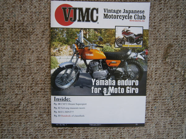 Yamaha DT2 Magazine Feature on cover of VJMC Magazine  sku 4610