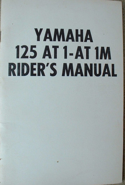Yamaha AT1M 125 Motocross GYT Kit Manual AHRMA