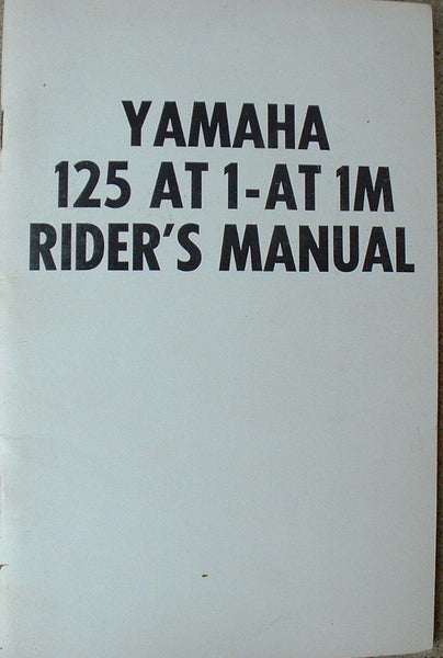 Yamaha AT1M 125 Motocross GYT Kit Manual AHRMA sku 1281