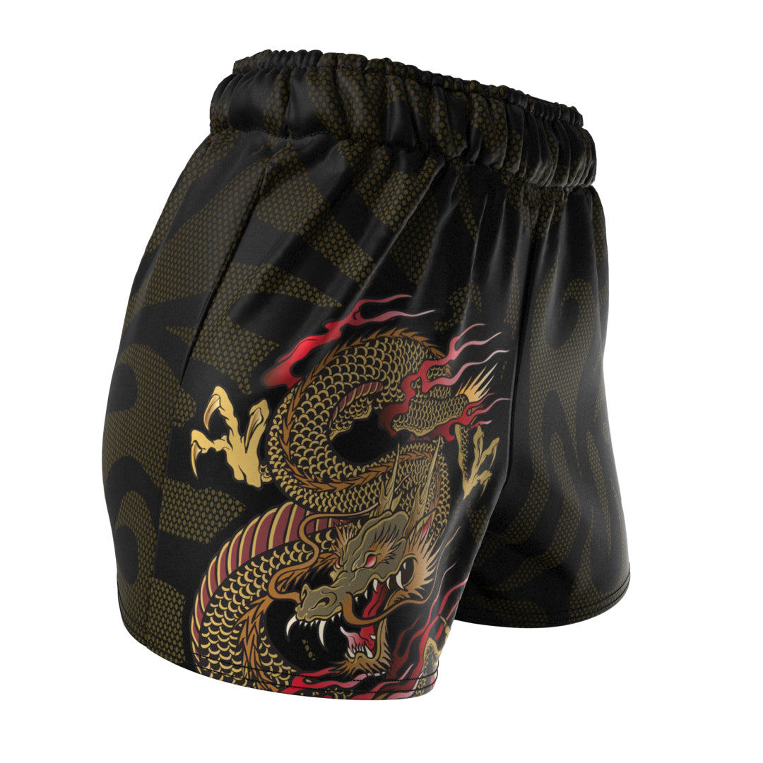 Dragon Warrior (Women's Sports Shorts) Martial Warrior