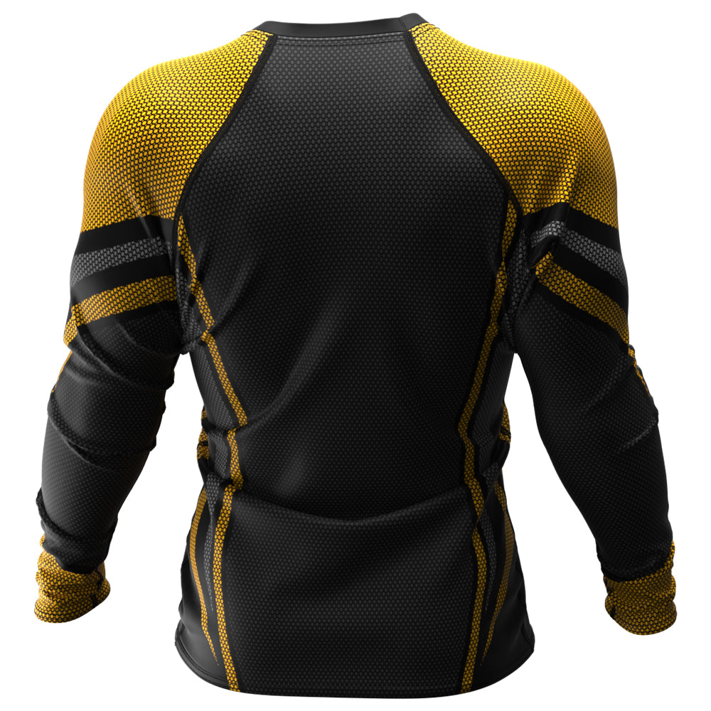 Voxpell Galaxy (Yellow/Grey) (Men's Rash Guard) Excelsior