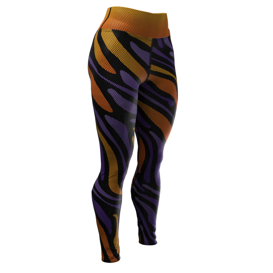 Tigerdelic (Women's Yoga Pants) Yoga