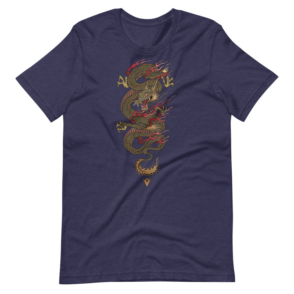 Dragon Warrior (Men's Crew-neck Tee) Martial Warrior