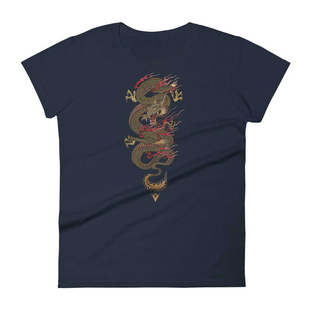Dragon Warrior (Women's Crew-neck Tee) Martial Warrior