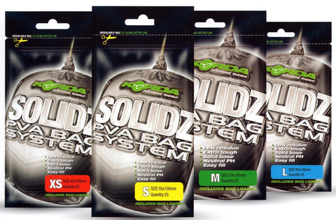 Korda SOLIDZ PVA Bag System Incl Bag Loader - Various Sizes