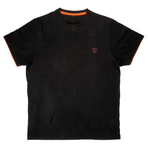 Fox Black and Orange Brushed T Shirt