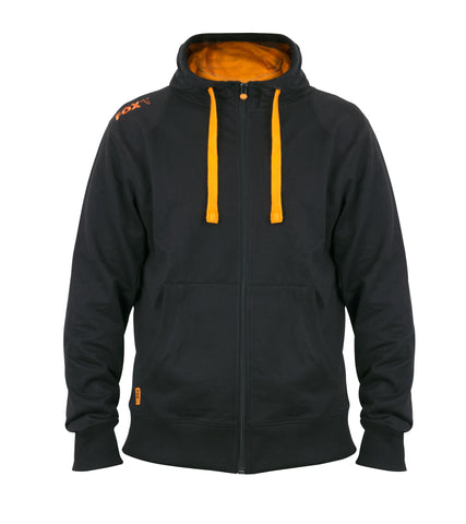 Fox Black and Orange Lightweight Zipped Hoodie