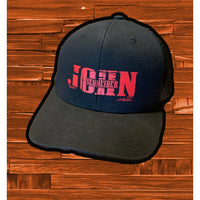 Black Bold Red Hat - JohnSchneiderStudioStore