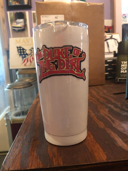 "White ""The Duke Of Dirt"" Tumbler"