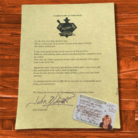What?! My 1980's Signed Drivers license! - JohnSchneiderStudioStore